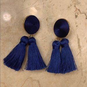 Royal blue sugar fix fringe earrings **like NEW**